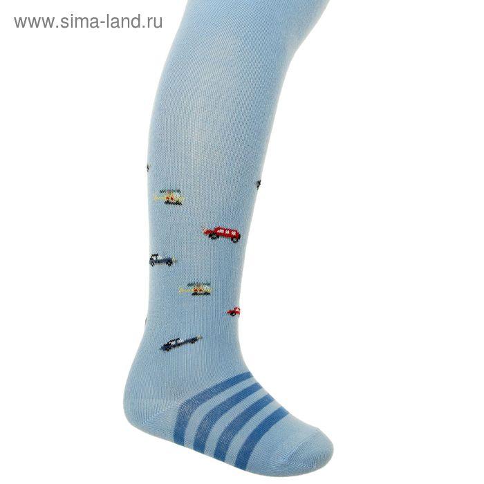 Колготки детские арт.4В439, цвет голубой, рост 74-80 см (9-12 мес)