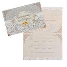 Приглашение на свадьбу «Кружево», 18 х 12 см