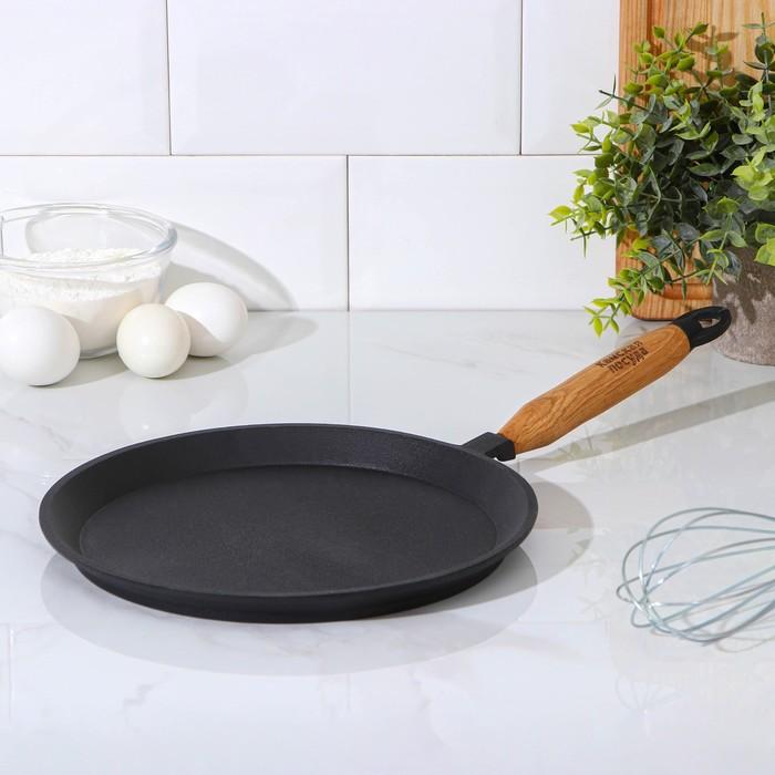 Сковорода блинная 24х1,5 см, с деревянной ручкой