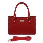 Сумка женская на молнии, 1 отдел, наружный карман, длинный ремень, красная