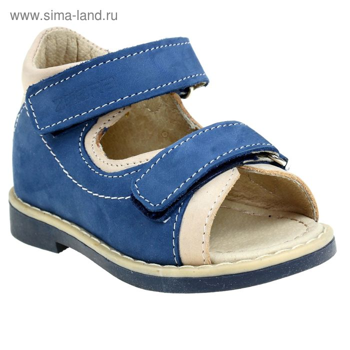 Туфли открытые малодетские Зебра, арт. 10468-5 (синий) (р. 22)