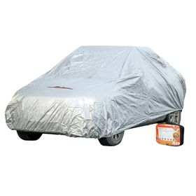 Чехол-тент на автомобиль, размер M, 495 х 195 х 120 см, с молнией для двери, серый