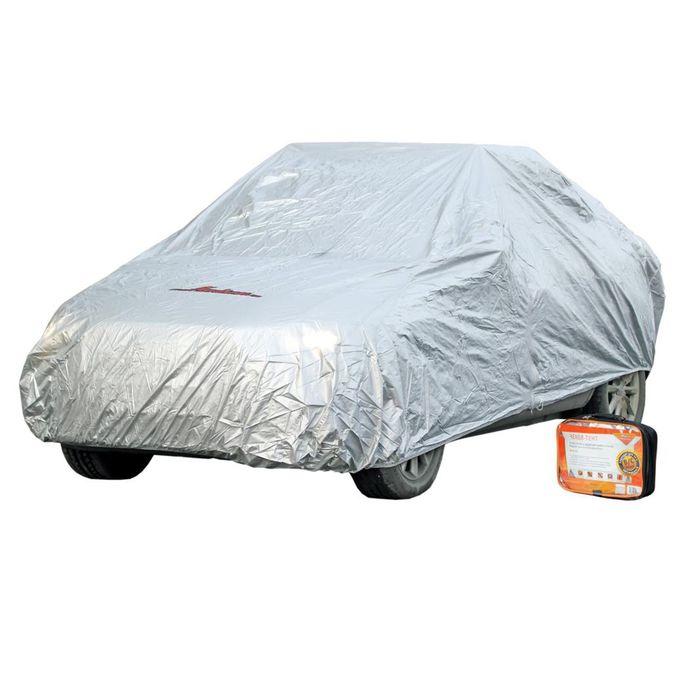 Чехол-тент на автомобиль, размер S, 455 х 186 х 120 см, с молнией для двери, серый