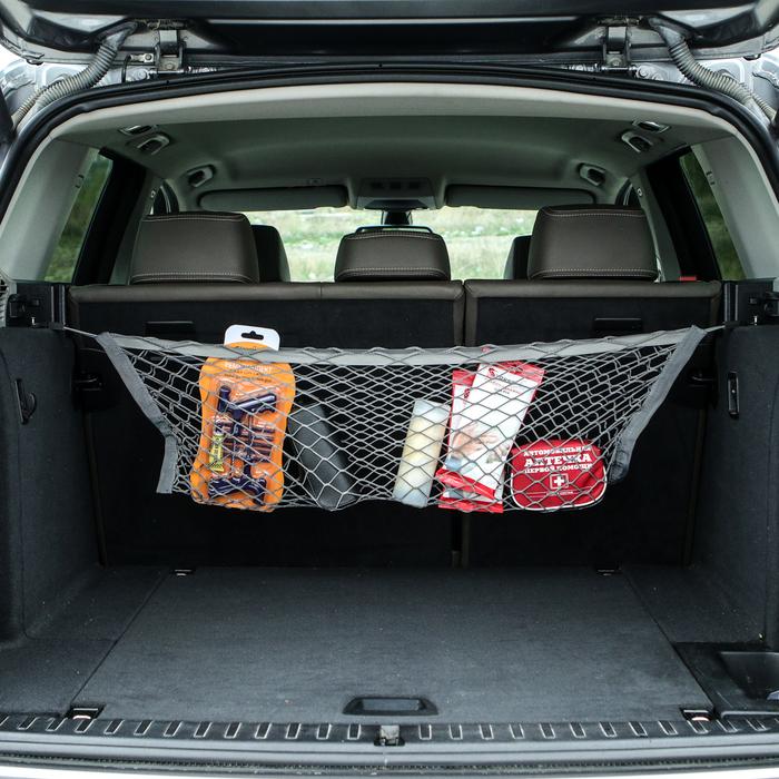 Сетка-карман багажная, 30 х 70 см, в комплекте 2 пластиковых крючка и 2 крючка-самореза