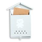 Ящик почтовый «Домик», вертикальный, без замка (с петлёй), серый