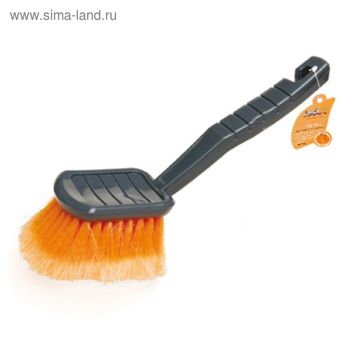 Щетка для мытья, с мягкой распушенной щетиной, 30 см