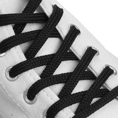 Шнурки для обуви круглые, d=6мм, 70см, цвет чёрный