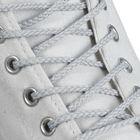 Шнурки для обуви круглые, d=4мм, 90см, цвет светло-серый