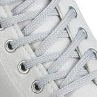 Шнурки для обуви круглые, d=6мм, 70см, цвет светло-серый
