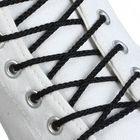 Шнурки для обуви круглые, d=4мм, 70см, цвет чёрный