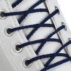 Шнурки для обуви круглые, d=4мм, 90см, цвет тёмно-синий