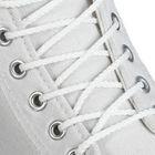 Шнурки для обуви круглые, d=4мм, 90см, цвет белый