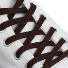 Шнурки для обуви круглые, d=6мм, 70см, цвет тёмно-коричневый