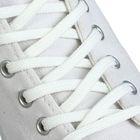 Шнурки для обуви плоские, 6мм, 70см, цвет белый