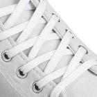 Шнурки для обуви, круглые, d=6мм, 90см, цвет белый