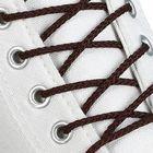 Шнурки для обуви круглые, d=4мм, 70см, цвет тёмно-коричневый