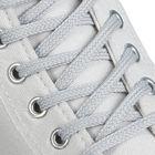 Шнурки для обуви круглые, d=6мм, 90см, цвет светло-серый