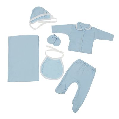"""Комплект подарочный """"Бусинка"""" 6 предметов, рост 50-62, цвет голубой К32-4-6ТР(ИН)"""