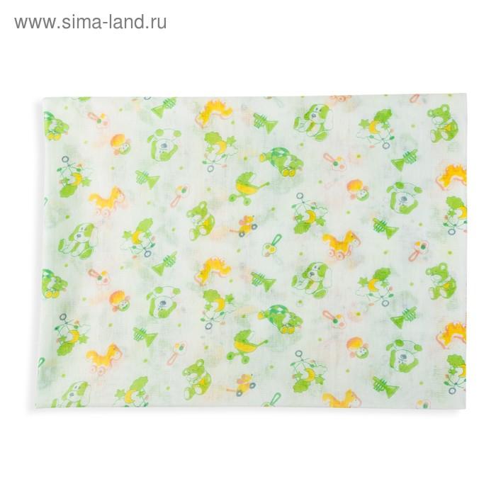 Пеленка ситцевая, размер 80*120 см, цвет МИКС 3-2С