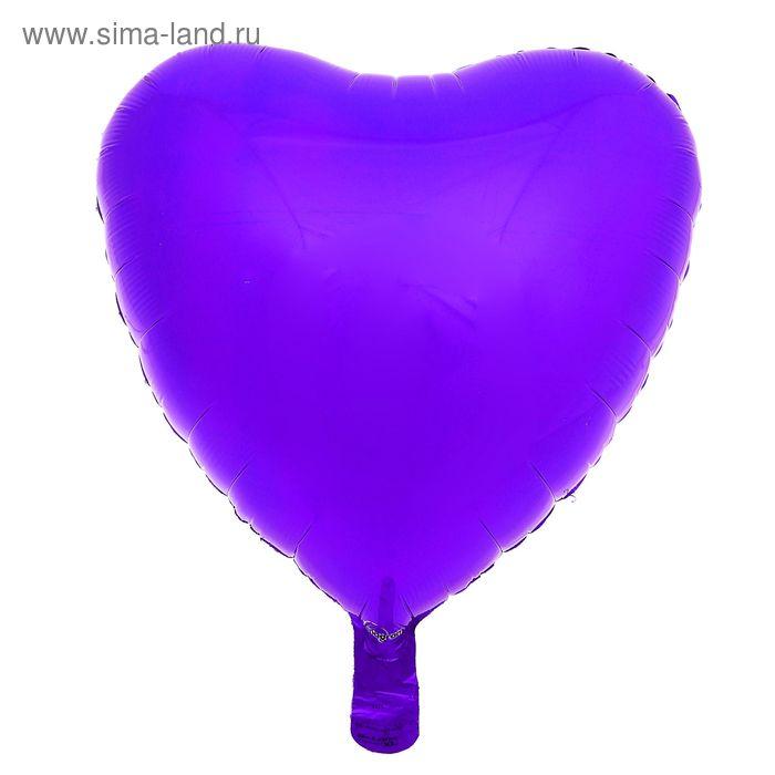 """Шар фольгированный """"Сердце"""" 18"""", металл, Purple"""