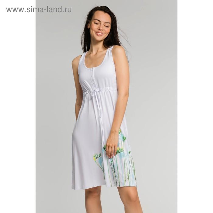 Сарафан женский, цвет белый, размер 48 (арт. М-503-10)
