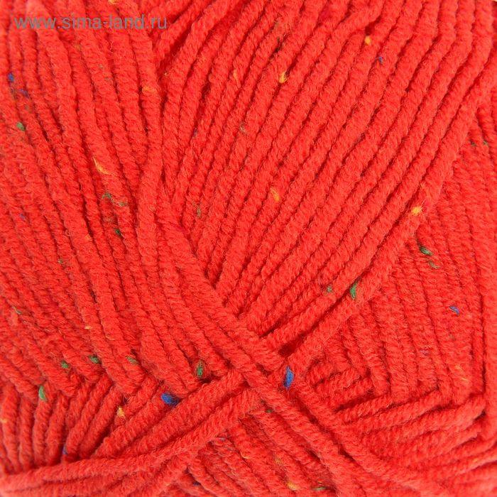 """Пряжа """"Cotton Gold Tweed"""" 57% хлопок, 40% акрил, 3% полиэстер 330м/100гр (243 красный)"""