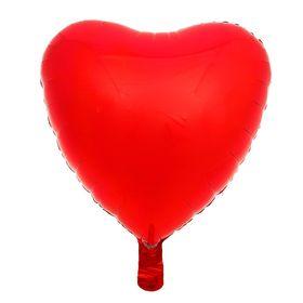 """Шар фольгированный 18"""" «Сердце», металл, красный"""