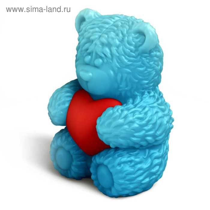 "Форма для творчества ""Медвежонок Тедди сидит с сердечком в обнимку"" набор 2 детали"
