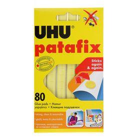 Клеящие подушечки UHU Patafic желтые, 80шт.