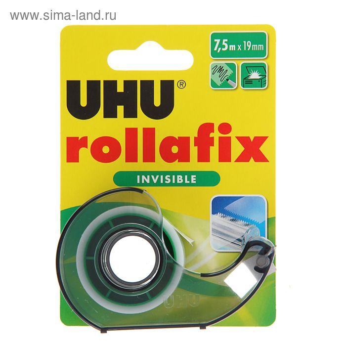 Клеящая лента невидимая 18мм*7.5м UHU ROLLAFIX INVISIBLE в диспенсере