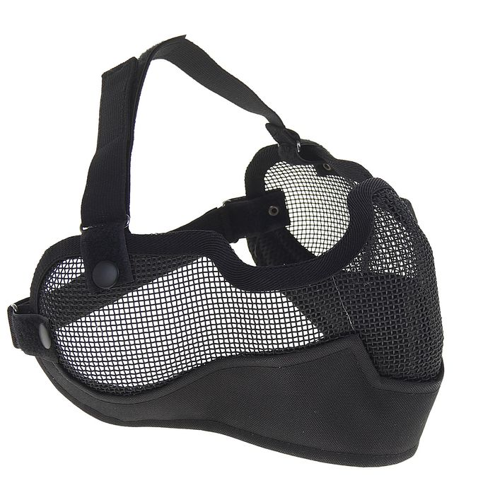 Маска для страйкбола KINGRIN V2 strike metal mesh mask (Black) MA-10-BK