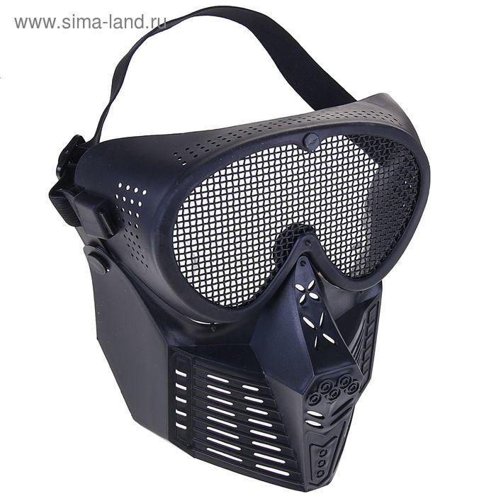 Маска для страйкбола KINGRIN Simple Tactical transformers mask-Steel mesh (Black) MA-18-BK
