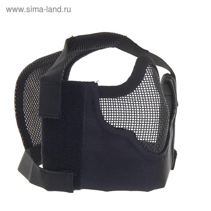 Маска для страйкбола KINGRIN V8 strike steel half face mask (Black) MA-65-BK