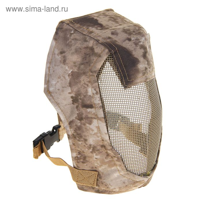 "Маска для страйкбола KINGRIN Face steel ""Striker"" Gen3 metal mesh full face mask (A-tacs) MA-12-AT"