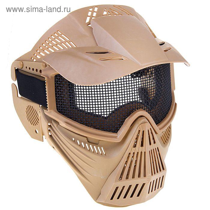 Маска для страйкбола KINGRIN Tactical gear mesh full face mask (Tan) MA-07-T
