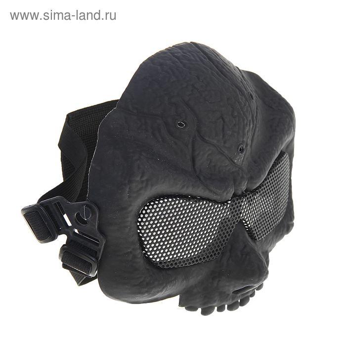 Маска для страйкбола KINGRIN Desert army group mask V5-Round mesh (Black) MA-56-BK