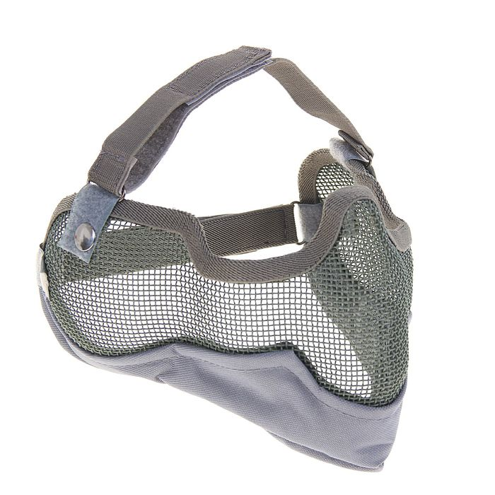 Маска для страйкбола KINGRIN V2 strike metal mesh mask (Grey) MA-10-G