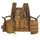 Жилет разгрузочный KINGRIN Tactical vest with accessory (Tan) VE-17-T