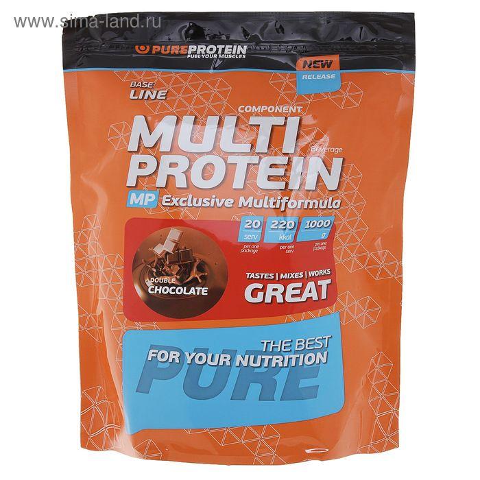 Мультикомпонентный Протеин 1000г  Двойной шоколад