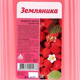 """Мыло жидкое туалетное Ника """"Земляника"""", канистра, 5 л - фото 7424202"""