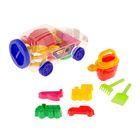 Песочный набор «Джип» для мальчиков в упаковке-машинке
