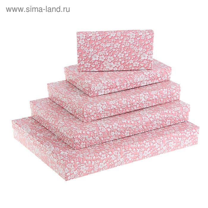 """Набор коробок 5 в 1 """"Розовый вьюнок"""""""