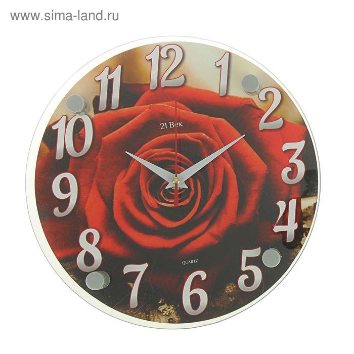 "Часы настенные круглые ""Роза"", 24 см"