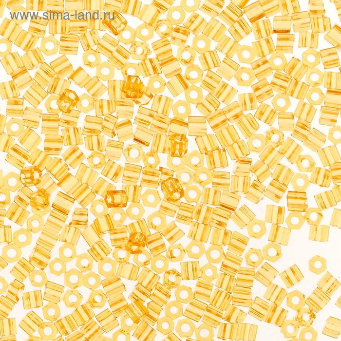 """Бисер Япония """"ТОНО"""" Hexagon №1, 11/0, 5гр (0002 св.желтый)"""