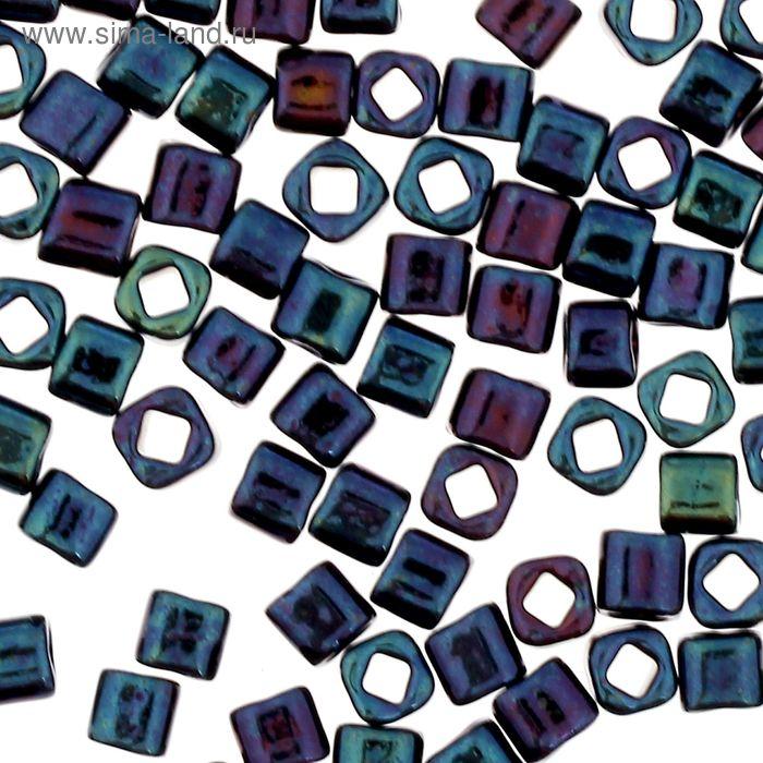 """Бисер Япония """"ТОНО"""" Cube №2, 3 мм, 5гр (0082 синий)"""