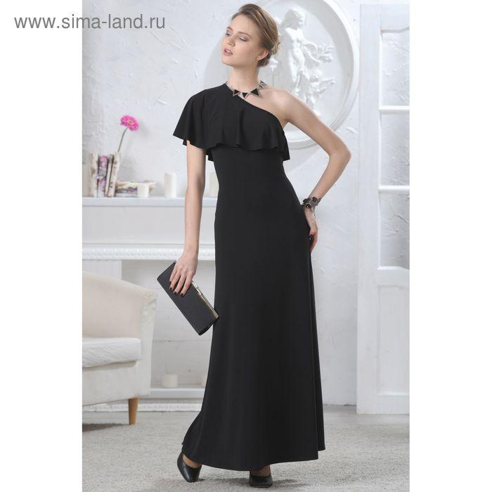Платье женское, размер 48, рост 164 см, цвет чёрный (арт. 4604)