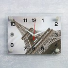 """Часы настенные прямоугольные """"Эйфелева башня"""", 20х26 см микс"""