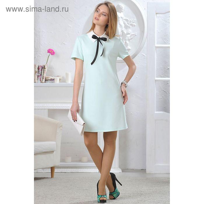 Платье женское, размер 46, рост 164 см, цвет светло-зелёный (арт. 4659в)