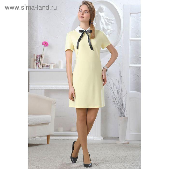 Платье женское, размер 42, рост 164 см, цвет светло-жёлтый (арт. 4659б)