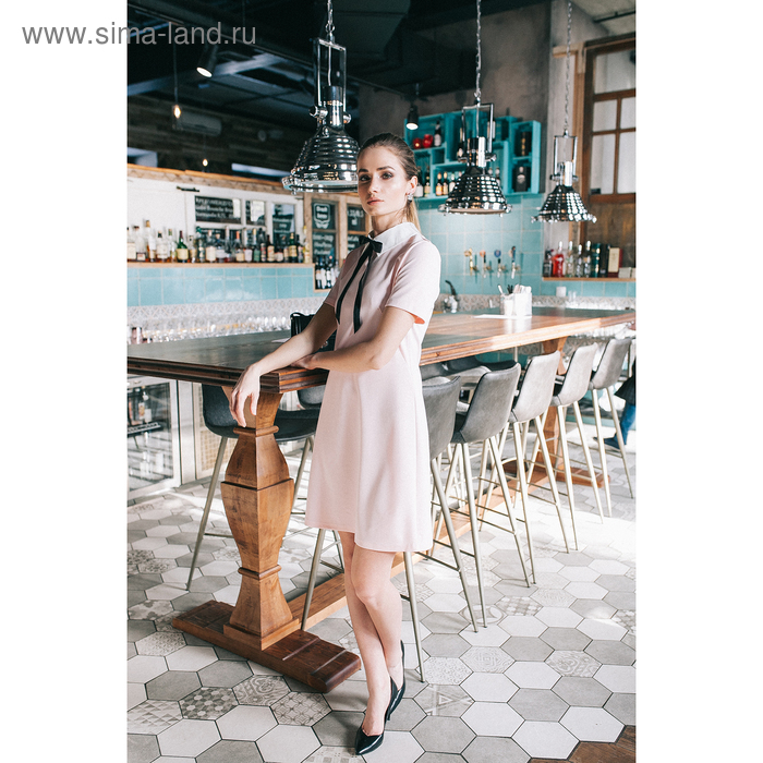 Платье женское, размер 44, рост 164 см, цвет светло-розовый (арт. 4659а)